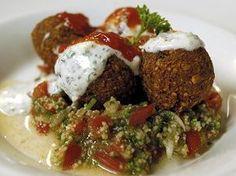 Tradiční falafel se salátem tabouleh
