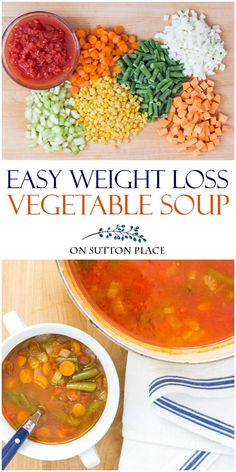 Use this easy weight loss vegetable soup recipe as your secret weapon to help shed those unwanted pounds. Make a pot and keep it on hand for lunches and snacks. #vegetablesoup #weightloss #diet #dietrecipe via @adrake606 #NoCarbDietIdeas Weight Loss Vegetable Soup Recipe, Weight Loss Soup, Vegetable Soup Recipes, Weight Loss Snacks, Detox Vegetable Soup, Veggie Soup, Weight Loss Secrets, Healthy Soup, Healthy Weight