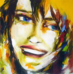 violette - Peinture,  80x80 cm ©2009 par Christian Vey -