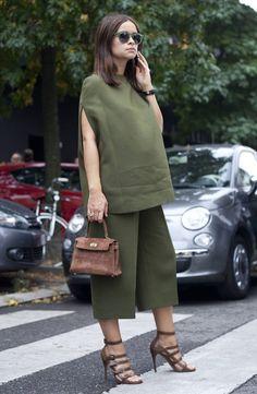 miroslava duma all green street style
