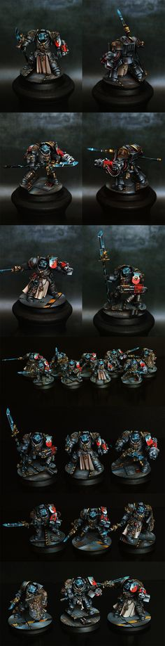 40k - Grey Knights Squad by dexterzg