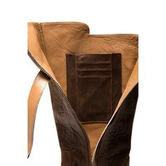 Its boots made with a holder inside for cards, cash, phone, etc.  SO COOL!  (found at Purse n' Boots European)