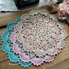 Crochet doily different colors to choose from 8 1/2