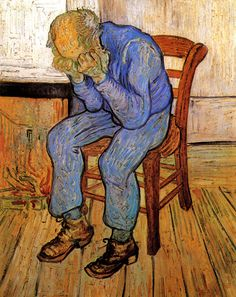 Old Man in Sorrow (On the Threshold of Eternity) - Vincent van Gogh - Painted in April-May, 1890 while in the Saint-Rémy Asylum - Current location: Rijksmuseum Kröller-Müller, Otterlo, Netherlands ...............#GT