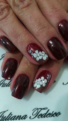 Mauve Nails, Blue Acrylic Nails, Pink Nail Art, Diy Nail Designs, Acrylic Nail Designs, The Art Of Nails, Pearl Nails, Finger Nail Art, Stylish Nails