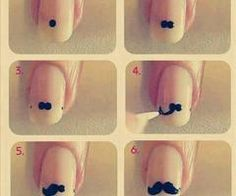 diy, moustache, nails, tutorial