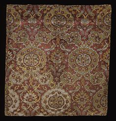 16th century Persian textile fragment via The Los Angeles County Museum of Art