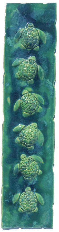Hawaiian Sea Turtle, Hawaiian Designs, Handmade Kitchens, Decorative Tile, Kitchen Backsplash, Shower, Artwork, Outdoor, Bathroom