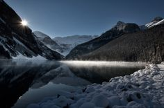 Steam Rising Off Lake Louise by Carla Stringari Pudler on 500px
