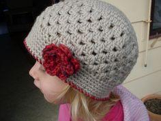 Easy crochet hat - very cute!