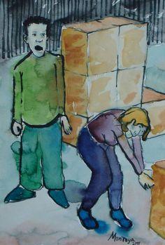 Buscando en las cajas. Exposición Museo Arte Moderno de Mazatlán, Sinaloa, México, Noviembre 2011. Juan Montoya López