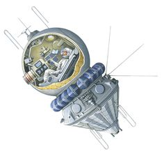 Vostok 3KA   by Laura Mears,  Take a look at the spacecraft that carried the first person into space