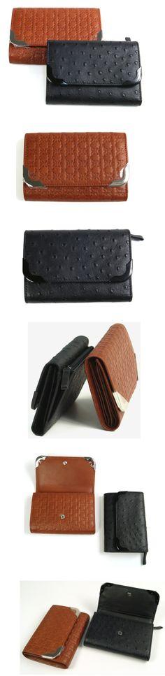 COCCINELLE OTIS Print Black Wallet  OTIS Logo Brown Wallet / 코치넬리 여자중지갑 브라운  블랙