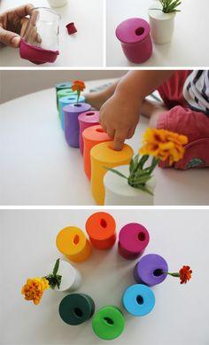 Ingeniosos jarrones hechos con globos para la habitación de los peques