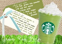 Green Tea Frapp Recipe. I can use this now that I have matcha!