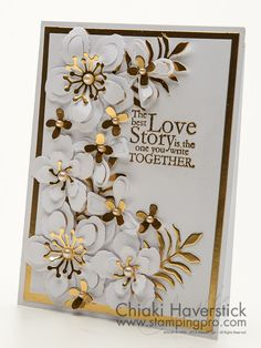 Happy Wedding Day!  (Pin#1: Anniversary/Wedding.  Pin+: Flowers: SU-3D/ Dies...; Glitzy...).