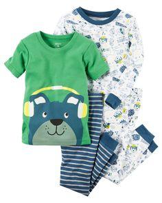 Baby Boy 4-Piece Snug Fit Cotton PJs   Carters.com