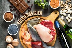 Purines in a Gout Diet. What are purines? Gout Diet, Foods That Cause Gout, Foods To Avoid, What Is Gout, Gout Remedies, Types Of Arthritis, Uric Acid, Food Charts, Dried Beans
