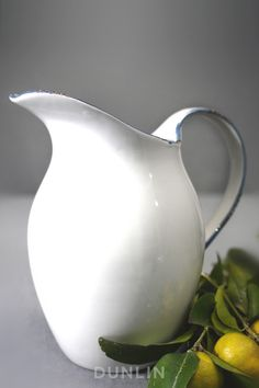 Antibes Blue and White Ceramic Pitcher.