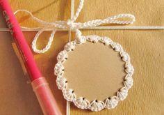 "ajándékkísérő ""Gift Tags Hang Tags Crochet Embellished Gift Labels by goolgool"", ""Unique Crochet Christmas Gift tags Very cute idea! Crochet Christmas Gifts, Family Christmas Gifts, Christmas Gift Tags, Crochet Gifts, Knit Crochet, Christmas Crafts, Wrapping Gift, Gift Labels, Unique Crochet"
