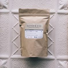 dapper & wise coffee roasters packaging