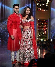 """Alia Bhatt and Varun Dhawan make our heart go Dhak Dhak in Red @Bollywood ❤❤❤ . . . #bollywood…"""