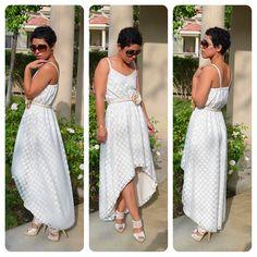Great boards for sewing ideas!!!  #DIY Polka Dot Mesh Dress + Pattern Review Vogue 8870 http://pinterest.com/mimigood/  mimigood