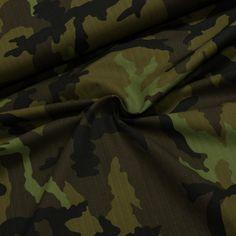 Směsové plátno BOND vojenská maskáčovina zelená, š.150cm (látka v metráži) Outdoor Blanket