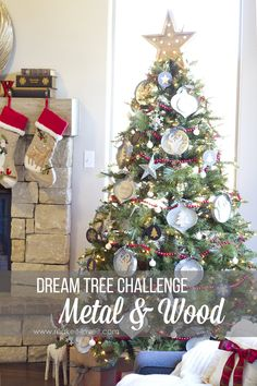 "Christmas ""Dream Tree"" Challenge --- Metal & Wood | via MichaelsMakers Make It and Love It"