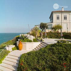Along theTrabocchi Coast, with the scent of brooms vibrating in the air, emerges Villa Estea, an ancient hunting lodge of the familyD'Avalosfrom the beginning of the XXth century. Love Promise, Italy Wedding, Wedding Ceremony, Castle, Villa, Patio, Mansions, House Styles, Outdoor Decor
