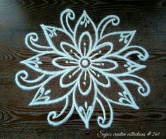 Rangoli Side Designs, Free Hand Rangoli Design, Rangoli Designs Latest, Small Rangoli Design, Rangoli Patterns, Rangoli Designs Images, Rangoli Designs With Dots, Rangoli Designs Diwali, Rangoli Ideas