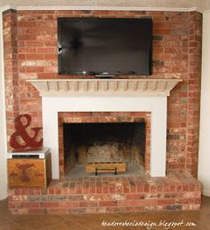 Idea for dealing with cable box with tv over mantle