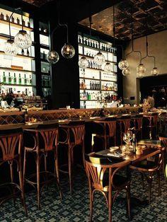 Revue Gent by interieurbureau wille Shop Interiors, Bar, Cafe Restaurant, Table Settings, Interior Shop, Dining, Homeland, Restaurants, Public