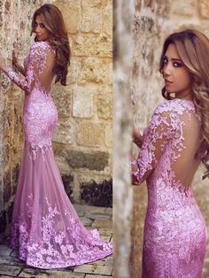 Evening Dresses Sleeve Evening Party Dresses,Flower Lace Appliques Mermaid Prom Dresses,Sheer Back Sexy Party Gowns Prom Dresses 2017, Cheap Prom Dresses, Prom Party Dresses, Party Gowns, Prom Dresses Long With Sleeves, Backless Prom Dresses, Dress Long, Beaded Prom Dress, Dress Prom