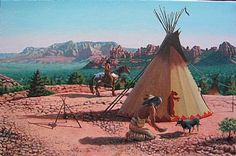 Room with a View - Native American landscape by Bill Scheidt kK