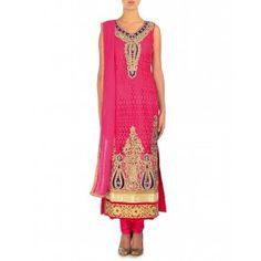 Embellished Coral Pink Suit