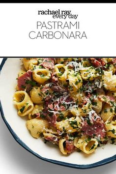 Say you're the bacon with pasta type of person but you've run out of bacon, so now what do you do? You add pastrami! Casserole Recipes, Pasta Recipes, Cooking Recipes, Healthy Recipes, Yummy Recipes, Leftovers Recipes, Dinner Recipes, Dinner Ideas, Pastrami
