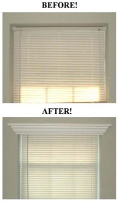 13. Dress up your windows with crown molding.