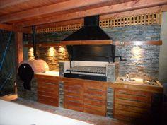 Outdoor Kitchen Grill, Backyard Kitchen, Outdoor Kitchen Design, Patio Design, Backyard Patio, Exterior Design, Parrilla Exterior, House Yard, Outdoor Living