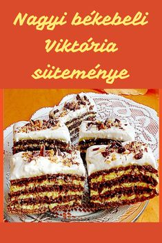 Cake Recipes, Dessert Recipes, Christmas Feeling, Hungarian Recipes, Oreo, Delicious Desserts, Food To Make, Waffles, Food And Drink