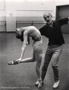 Jerome Robbins with Patricia McBride. Photo by Martha Swope, DM Archives