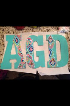 Wooden Letters For Crafts - You should be aware that they come in various quality levels, if you're looking to go in your Little Presents, Little Gifts, Painted Letters, Decorated Letters, Painted Wood, Painted Furniture, Diy And Crafts, Arts And Crafts, Room Crafts