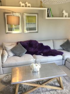 This rug is simply divine, in silky purple violet colour which works perfectly with any neutral interior and makes any sofa or floor instantly cosy. Our sheepskins are made from superior skins originating in Australia and New Zealand and hand finished in the UK. The fur length is