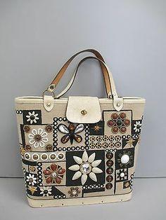 Vintage Collins of Texas Jewel Patch Handbag