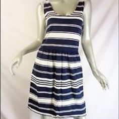J.Crew striped Dress J.Crew striped dress. Only worn twice. Great piece for the spring/ summer. Navy blue and white stripes J. Crew Dresses