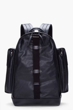 GIVENCHY Black Large Leather Backpack