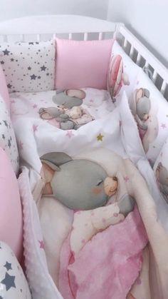 Baby Girl Crib Bedding, Girl Cribs, Baby Bedding Sets, Baby Bedroom, Baby Boy Rooms, Baby Cribs, Baby Pillows, Baby Room Themes, Baby Room Decor
