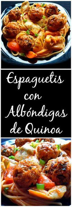 Estas albóndigas de quinoa son sencillas a preparar y muy sustancioas. Perfectas para combinar con pasta, en un bocadillo, o solas con una salsa de tomate.