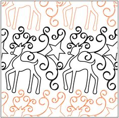 O Prancer pantograph pattern by Patricia Ritter of Urban Elementz
