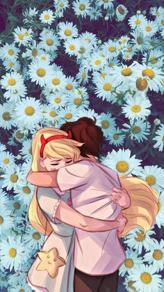 Star vs forces of the evil  star butterfly and Marco starco couple cartoon